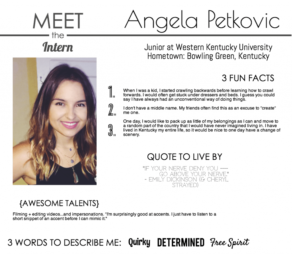 Meet the Intern- Angela