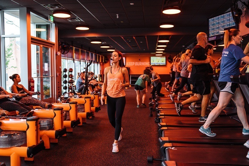 Gym members working out at Orangetheory Fitness in Midtown Nashville