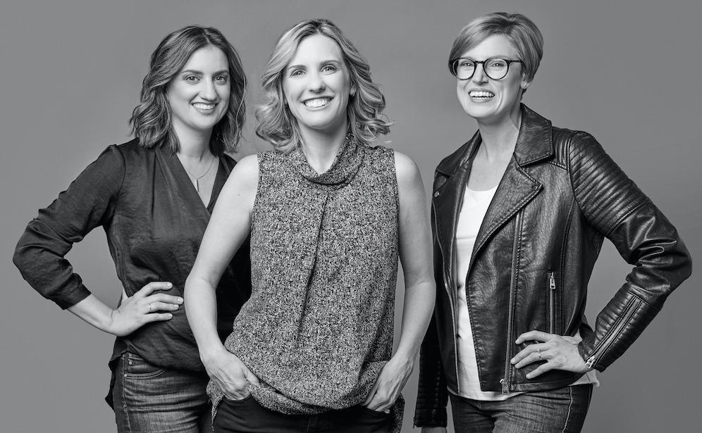 Lauren Reed, Katie Adkisson, and Jenny Barker - Reed PR's leadership team