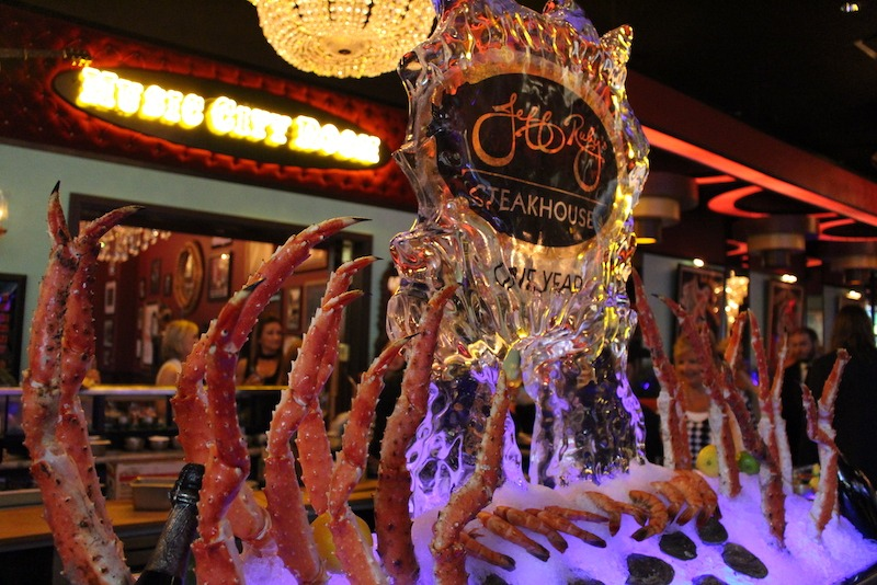 Ice Sculpture with Crab Legs at Jess Ruby's Steakhouse, Nashville TN