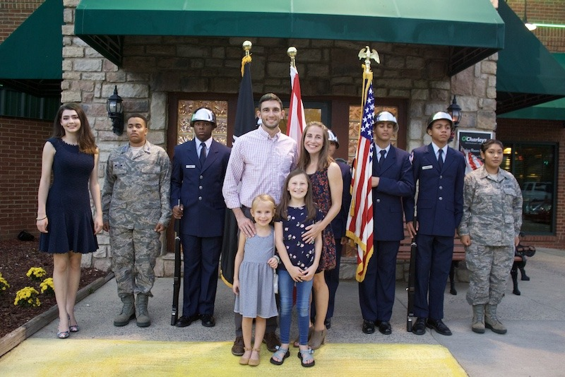 O'Charley's Restaurant Grand Re-Opening with Members of the Armed Services